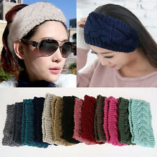 Flower Crochet Knit Knitted Headwrap Headband Ear Warmer Hair Muffs Band Fashion
