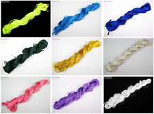 Woven Macrame Cord Thread For Diy Bracelet Necklace Making Roll Bunch Colors