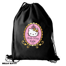 PERSONALISED HELLO KITTY PENCIL CASE NOTEBOOK DRINKS BOTTLE PE KIT BAG LUNCH BAG