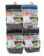 6 PAIRS MEN'S PRINTED/PLAIN JERSEY COTTON BOXERS SHORT UNDERWEAR SIZES S-XL
