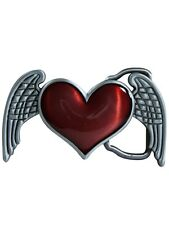 New Heart With Wings Belt Buckle