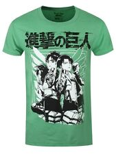 Attack on Titan Scout Group Heather Men's Green T-shirt