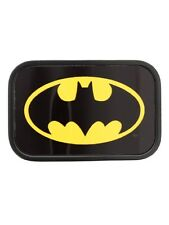 Batman Logo Chrome Belt Black Buckle