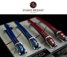 """NOS Zefal Leather straps """"Christophe"""" black - white - honey NEW in red + blue"""