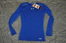 Under Armour Boys HeatGear Sonic Fitted Longsleeve Shirt Blue NWT