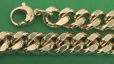 Curb chain 14mm wide 42cm to 100cm gold plated 1,4cm Curb chain bracelet