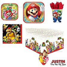 SUPER MARIO KART Birthday Party Tableware Plates Cups Napkins Tablecover
