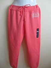 New GAP Womens Sweatpants large Small Logo Cropped Fleece Nwt