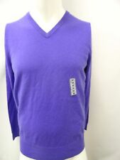 New Polo By Ralph Lauren Men's Sweater Pullover Crew Neck Purple 100% Cashmere