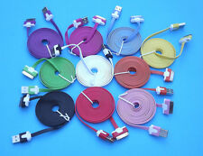 Colorful 3M USB Noodle Charge Cable Data Sync Cord for iPhone 4 3GS iPad iPod