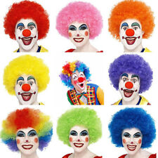 Adult Disco Curly Colorful Circus Clown Wig Hair Halloween Costume Accessory Hot