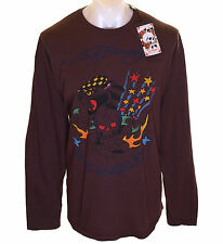 Bnwt Mens Ed Hardy Death Or Glory Skull Long Sleeve T Shirt 2XL 3XL 4XL Big Tall