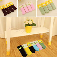 4Pcs Style Furniture Chair Table Leg Floor Protector Foot Cover Knitted Cute New