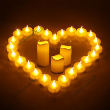6/12/24pcs Flameless Electronic Tea Light LED Candle for Romantic Wedding Party