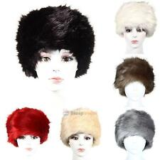 Womans Cossack Russian Style Hat Faux Fur Winter Warm Super Soft One Size HOT