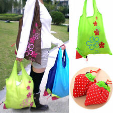 Cute Strawberry Foldable Eco Bag Colorful Reusable Shopping Tote Shoulder Purse