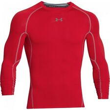Under Armour Mens Hg Long Sleeve Compression Shirt Red