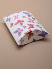 Wholesale Bulk Buy Packs of 12 White Butterfly Print Pillow Pack Gift Favour Box