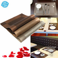Dining Table Mat Bowl Pad Coaster Slip Resistant Pad PVC Waterproof Table Cloth