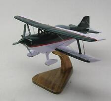 Aviat S-2B Pitts S2B Private Airplane Desktop Kiln Dry Wood Model Large New