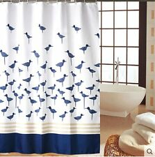 """71"""" Waterproof Thickened Blue Birds Polyester Bathroom Shower Curtain Home Decor"""