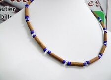 Hazelwood necklace + seed beads with pendant collier de noisetier (therapeutic)