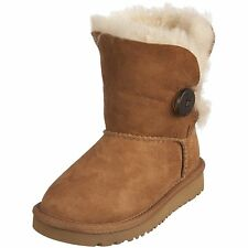 Kids Ugg Australia Bailey Button Boots Twinface Sheepskin 5991 Youth Size