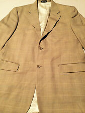 Oscar De La Renta Mens Wool Light Tan Sport Coat Blazer Jacket Size 42L