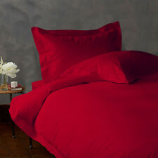 1000TC COMPLETE BEDDING SET SOLID RED 100% EGYPTIAN COTTON CHOOSE SIZE & ITEMS