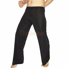 Sexy Men's Sheer Mesh Leggings Fitness Loose Long Johns Pants Bottoms Underwear