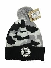 American Needle Black/Grey Brooklyn Nets Knit Pom Beanie