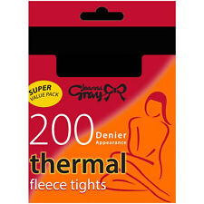 NEW FLEECE TIGHTS - 200 DENIER - MEDIUM - LARGE - BLACK - THICK - WARM - WINTER