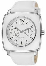 Esprit Watch EL101302F02 Women's  White Dial Leather watch with Date and Day