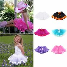 Kids Girls Fluffy Pettiskirt Tulle Tutu Princess Skirt Child Ballet Dance Dress