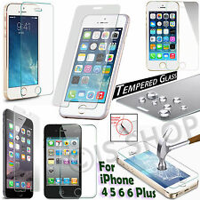 Tempered Glass Screen Protector Film Anti Shatter For iPhone 4 5 5S 6 6S 6 Plus