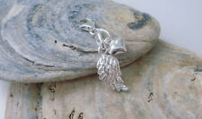 Bracelets Charms, Necklace Pendant, Sterling Silver Angel Wing Heart, Bag Charm