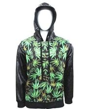 NEW HIP HOP URBAN WEAR TERRY JACKET WEED LEAF MARIJUANA  HOODIE VICTORIOUS HOOD