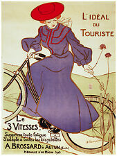 742. Nouveau Cycles Ad Wall Decoration POSTER.Graphics to decorate home office.