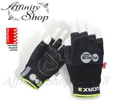 5x Force360 Fingerless Work Gloves AS/NZS Mechanic Style Glove like Contego NEW