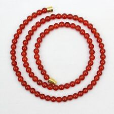 Carnelian Necklace 4mm Genuine Natural 4 mm carnelian Beads Red Orange beads
