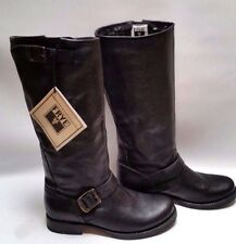Frye Veronica Slouch Black Tumbled Full-Grain Leather Womens Boots 8 B