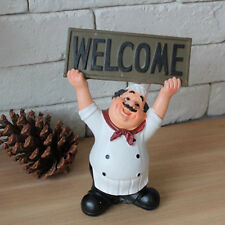 Restaurant Bar Home Decor Kitchen Chef Cook WELCOME Sign Plaque Figurine Figure