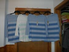 Long Sleeve Blouses LC Lauren Conrad reg.size LG,MD,SM Blue Striped and other NW