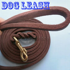 LONG PET DOG TRAINING COW LEATHER LEAD LEASH PUPPY TRAINING OBEDIENCE RECALLS
