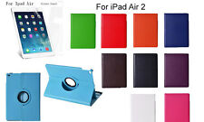 iPad Air 2 Screen Protector/360°Rotate Litchi Grain PU Leather Cover Case