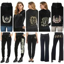 NWT Juicy Couture Velour Tracksuit Women Embellished Jacket Pants L