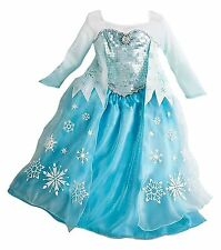 DISNEY STORE PRINCESS CINDERELLA,BELLE,SNOW WHITE,RAPUNZEL&ELSA COSTUME DRESSES