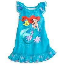 Disney Store The Little Mermaid Ariel & Flounder NightGown PJ's 3 4 5/6 7/8 9/10