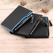 Men's Faux Leather ID credit Card holder Bifold Coin Purse Wallet Pockets BE