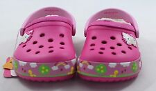 Crocs Hello Kitty At the fair Neon Magenta Lined Clogs Kids Shoes